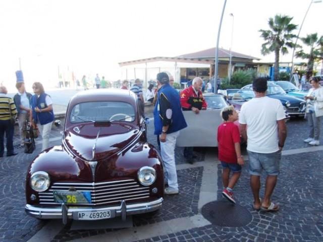 Il traguardo a Porto Recanati